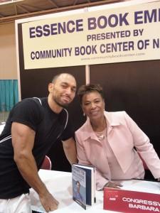 With Congresswoman Barbara Lee.